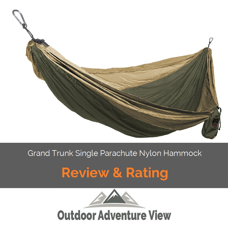 Grand Trunk Single Parachute Nylon Hammock cover